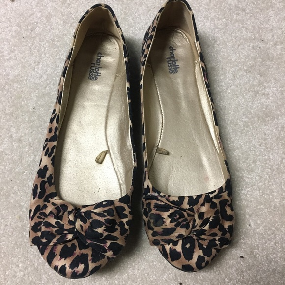 81457deecee4 Charlotte Russe Shoes - Charlotte Russe Leopard Print Flats Size 9.5